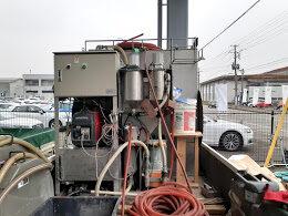 汚泥処理機に接続