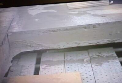 板ジャッキ工法 破壊後の断面